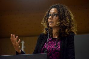 Lien Verbauwhede Koglin, consejera de la División de Apoyo a las Pymes y a la Iniciativa Empresarial de la Organización Mundial de la Propiedad Intelectual (OMPI) (Foto: Andrés Barriga / Vicerrectoría de Investigación, Universidad Nacional de Colombia)