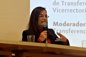 Vanessa Mercedes Quiroga, directora de Transferencia de Conocimiento de la Universidad Industrial de Santander (Foto: Aura Flechas / DNEIPI / Vicerrectoría de Investigación, Universidad Nacional de Colombia)