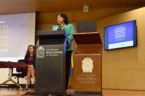 Asistentes, conferencistas y organizadores del seminario (Foto: Vicerrectoría de Investigación de la Universidad Nacional de Colombia)