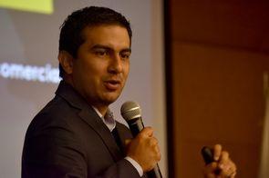Óscar Quintero de Tecnnova_UEE (Foto: Andrés Barriga / Vicerrectoría de Investigación (VRI) - Universidad Nacional de Colombia)