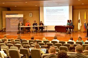Conversatorio «Gestión, evaluación, protección, divulgación y comercialización de la propiedad intelectual en las universidades» (Foto: Aura Flechas / DNEIPI / Vicerrectoría de Investigación, Universidad Nacional de Colombia)
