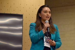 Aida Mayerly Fúquene Montañez, del equipo de Transferencia de Conocimiento de la División de Extensión de la Universidad Nacional de Colombia sede Bogotá (Foto: Aura Flechas / DNEIPI / VRI)