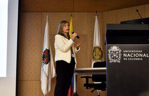 Elizabeth Ritter dos Santos, directora de la Oficina de Transferencia de Tecnología (ETT-PUCRS) de la Pontificia U. Católica de Río Grande do Sul (PUCRS), Porto Alegre, Brasil  (Foto: Aura Flechas /Dirección Nacional de Extensión, Innovación y Propiedad I