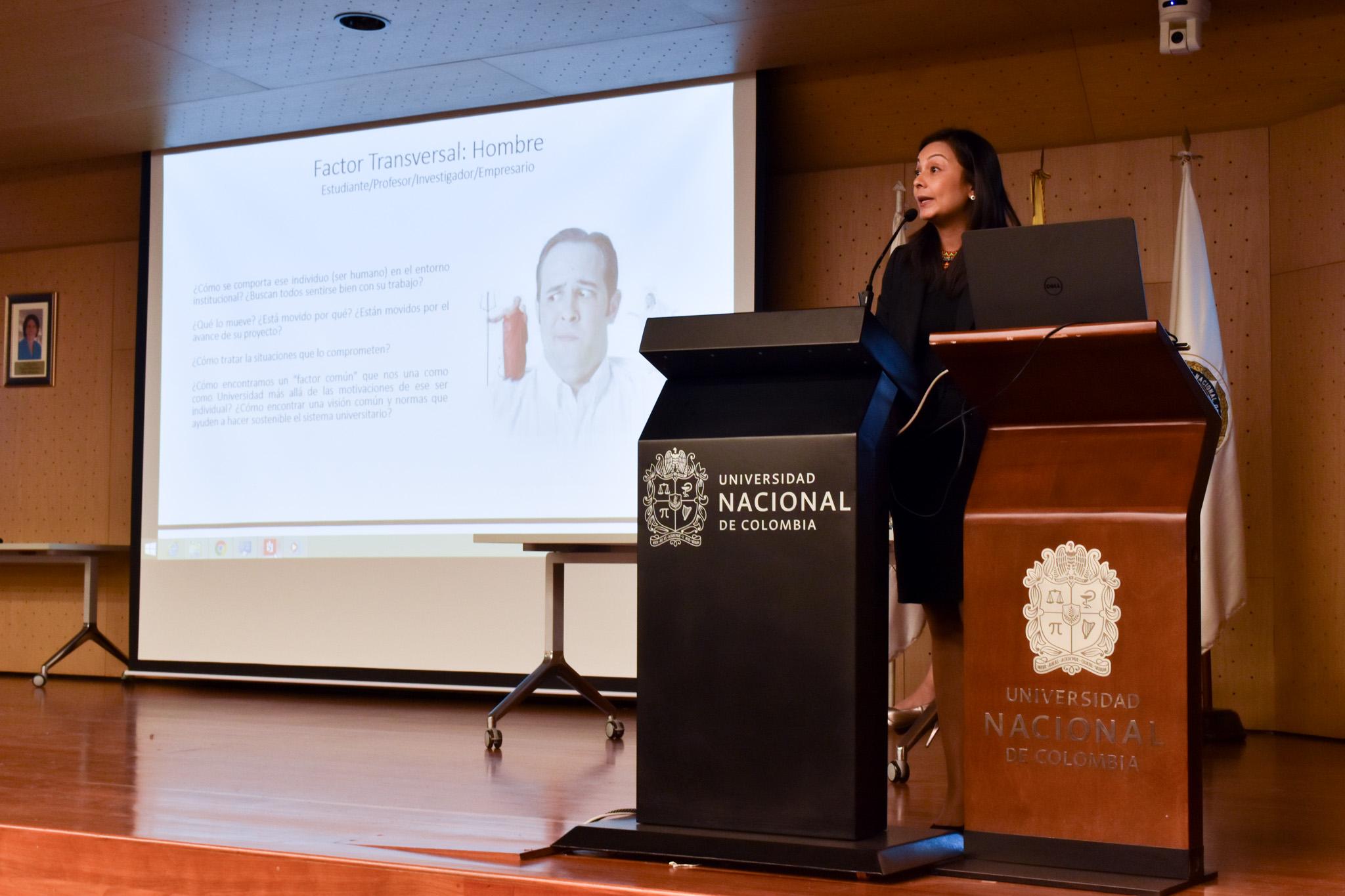 Catalina Atehortúa García, abogada especialista en Propiedad Industrial, Derechos de Autor y Nuevas Tecnologías (Foto: Aura Flechas /Dirección Nacional de Extensión, Innovación y Propiedad Intelectual / Vicerrectoría de Investigación/U. N.)