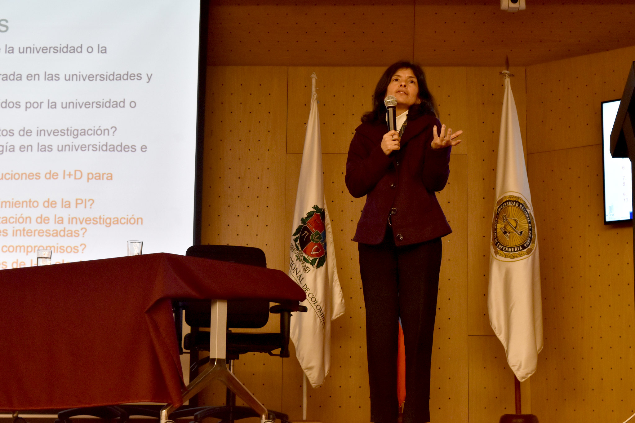 María del Pilar Noriega Escobar, directora general del Instituto de Capacitación e Investigación del Plástico y del Caucho (ICIPC) (Foto: Aura Flechas / DNEIPI / Vicerrectoría de Investigación (VRI) - Universidad Nacional de Colombia)