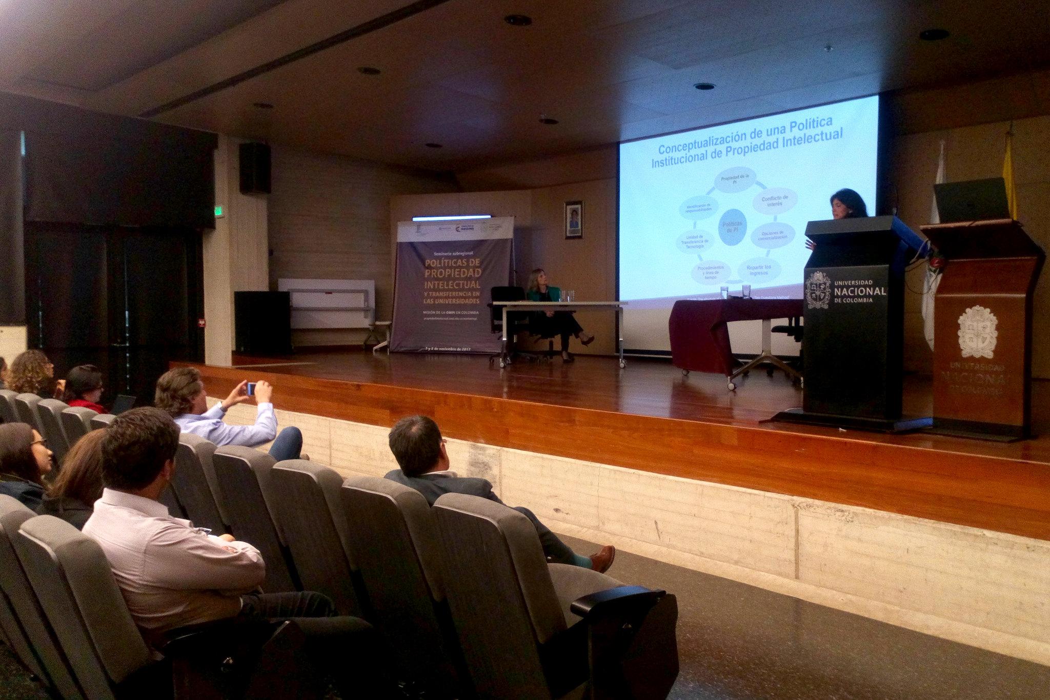 Taller práctico «El desarrollo de una política de Propiedad Intelectual en la universidad» (Foto: Aura Flechas / DNEIPI / Vicerrectoría de Investigación (VRI) - Universidad Nacional de Colombia)