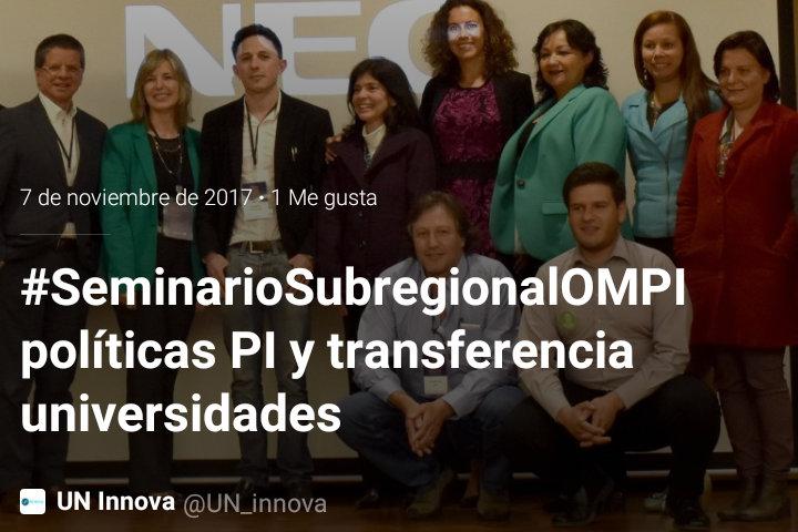 #SeminarioSubregionalOMPI